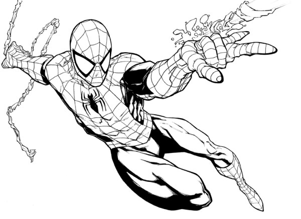 coloring pages of spiderman # 8