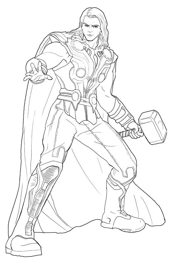 thor coloring page # 56