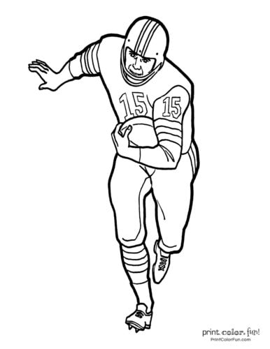 football player coloring page # 5