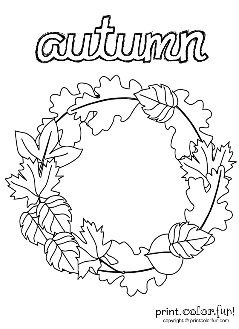 Autum Coloring Pages