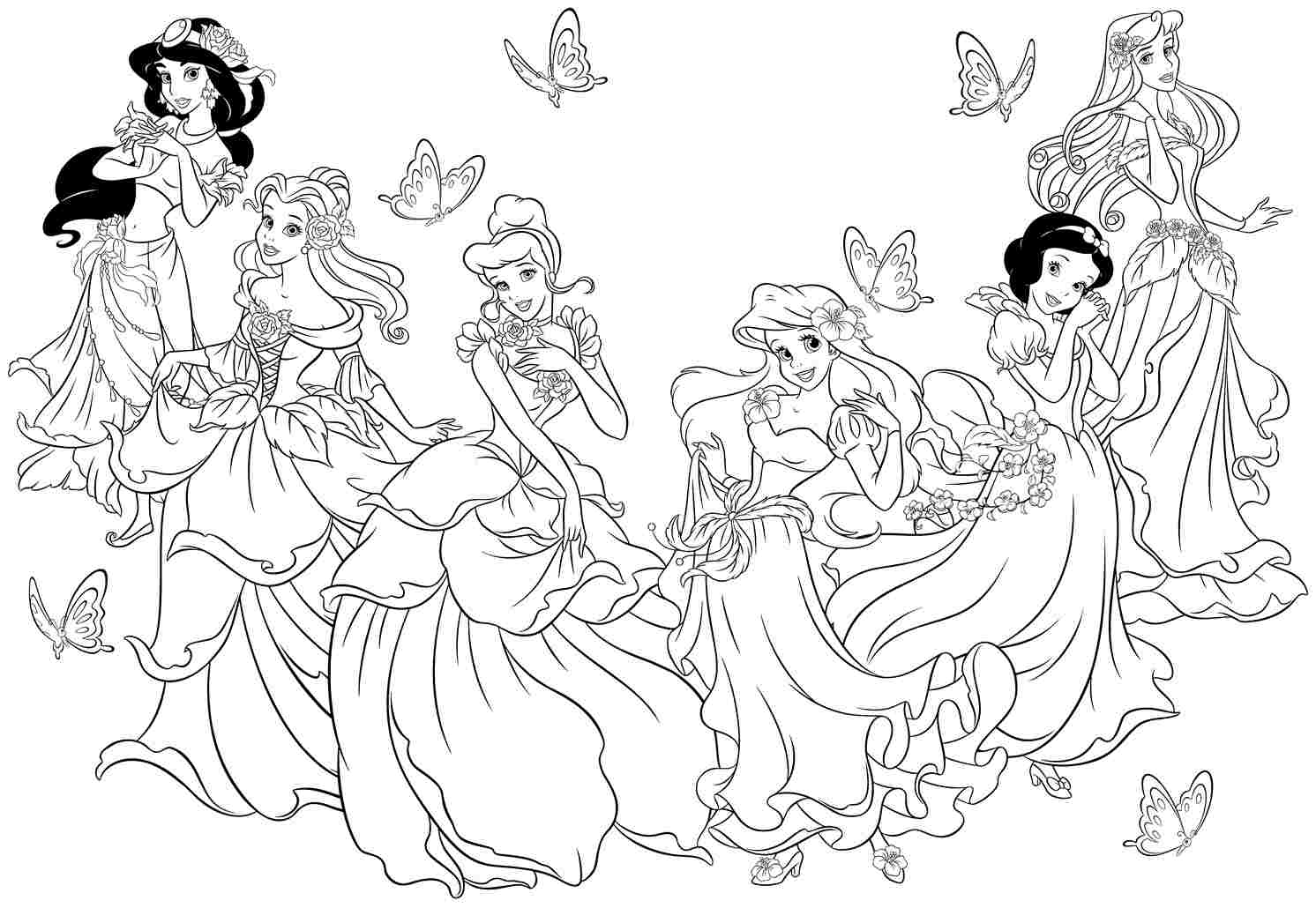 Free Coloring Pages Princess Disney Coloring Page