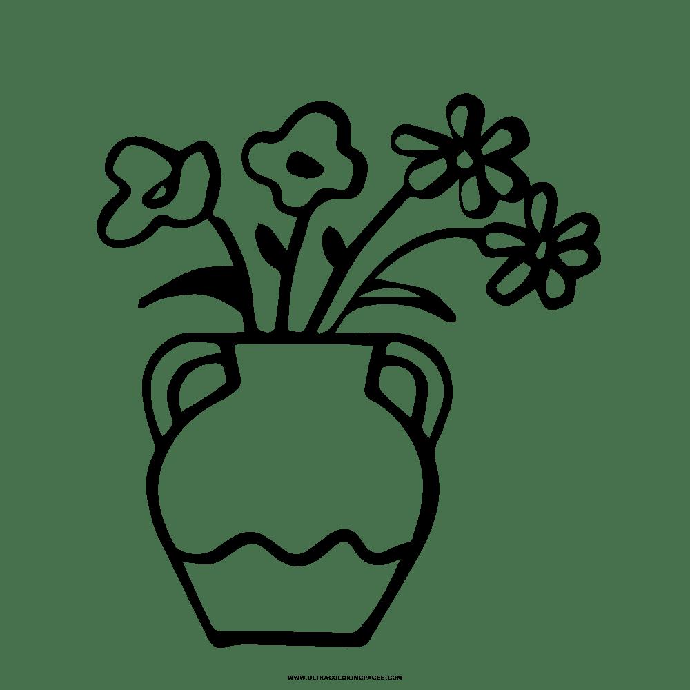 Floreros De Dibujos Para Colorear Wwwmiifotoscom