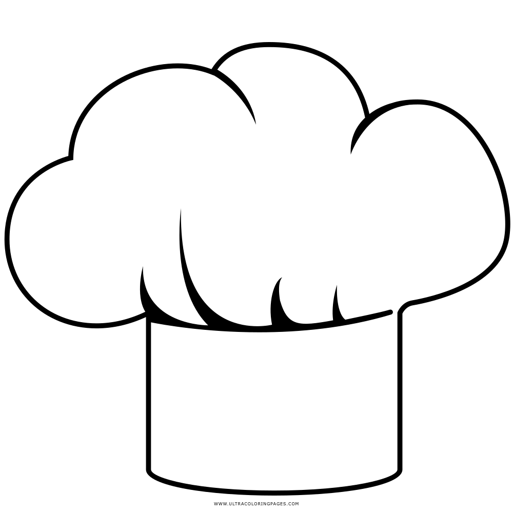 Chef Hat Coloring Page Ultra Pages