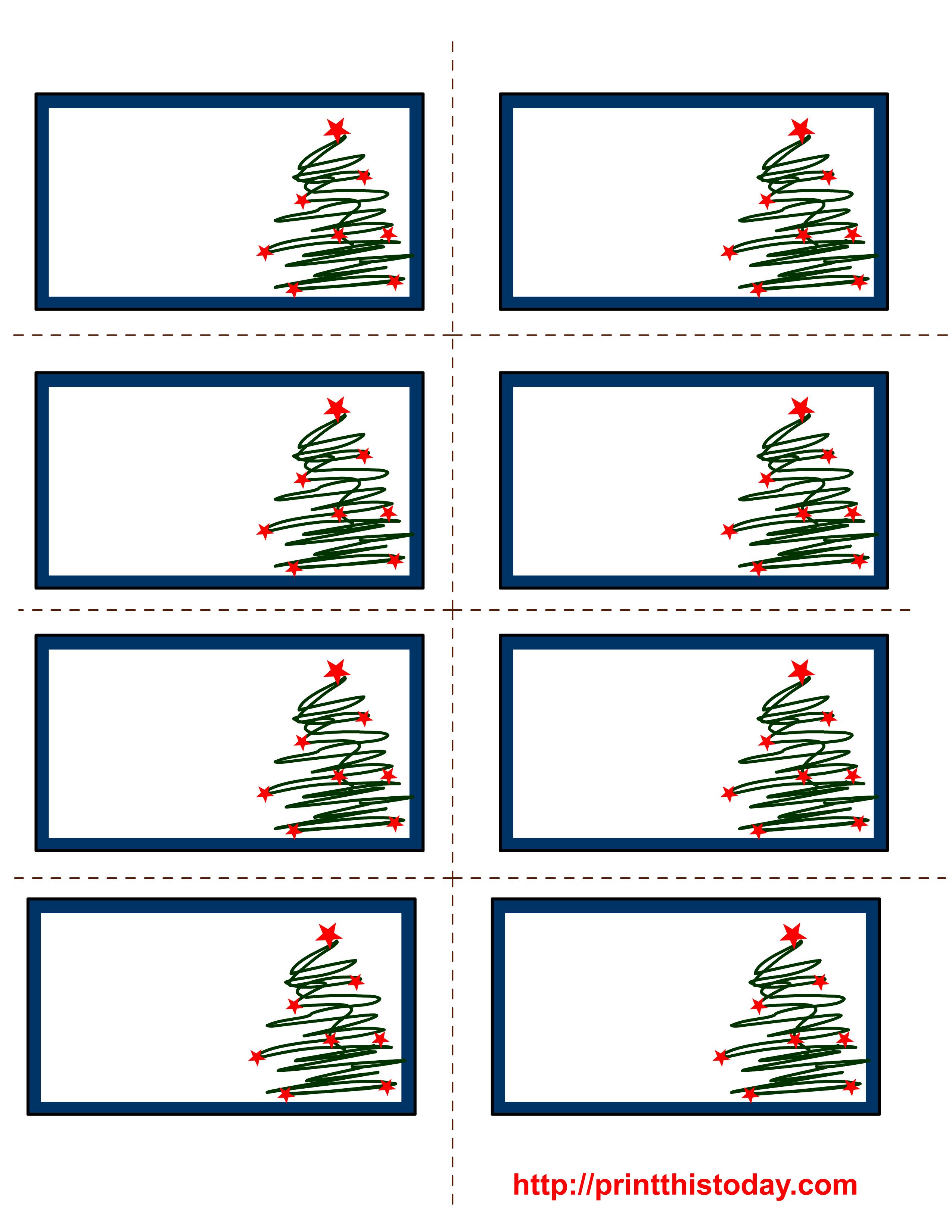 Holiday Address Label Templates