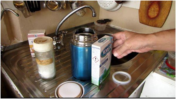 Thermos tisztítás foghajlítással