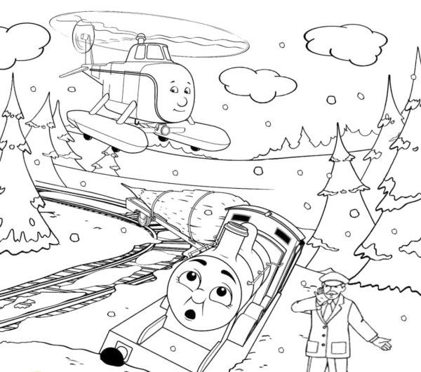 train coloring pages printable # 14