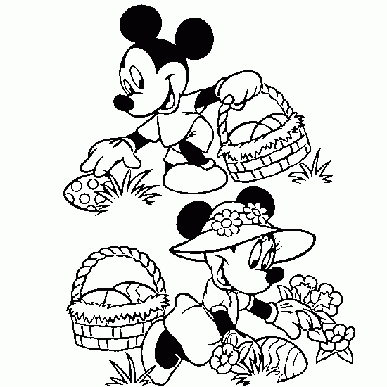 Baby Minnie Mouse And Friends Coloring Pages