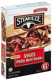 Steak Eze Beef Steaks Angus Philly 6 0 Ea Nutrition
