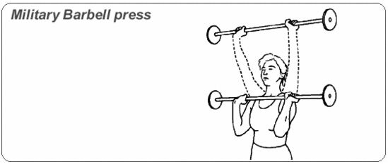 Military barbell press | Workout