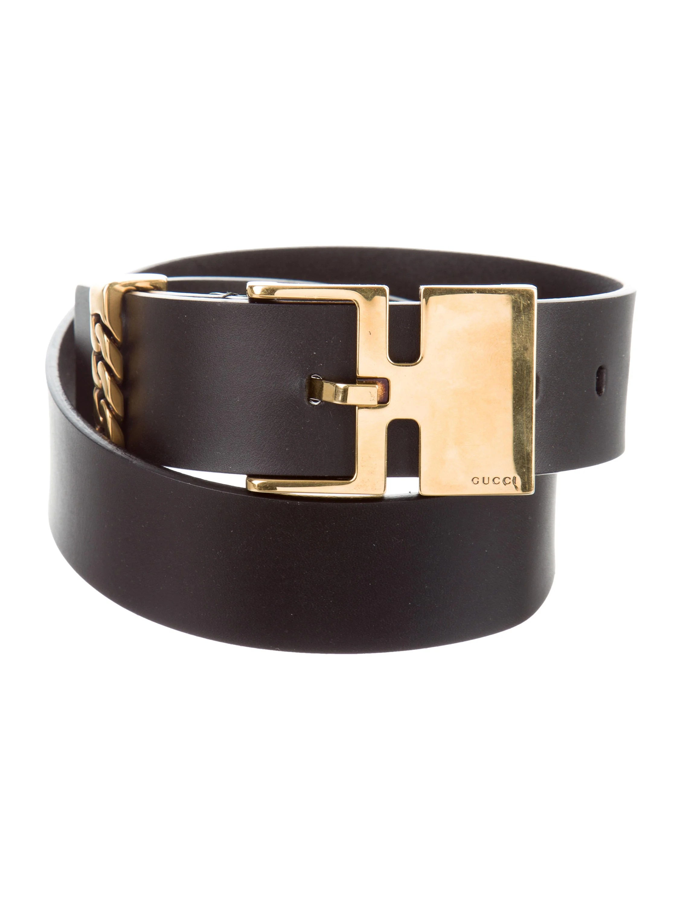 Black Belt Gucci Leather