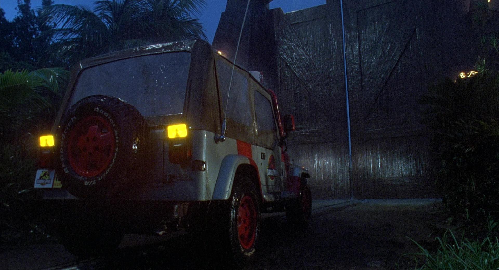 Jeep Wrangler Cars In Jurassic Park 1993 Movie