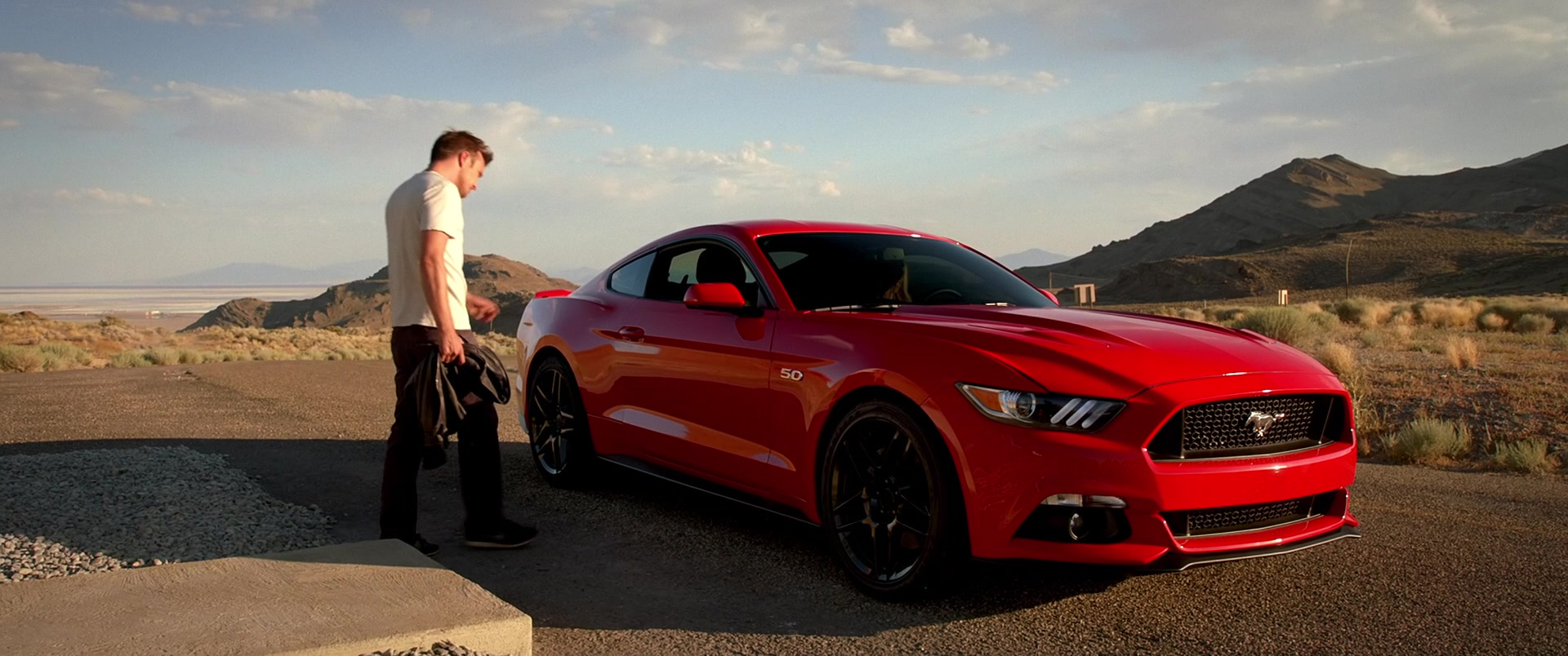 Ford Mustang Red Car Driven By Imogen Poots In Need For Speed 2014 Movie
