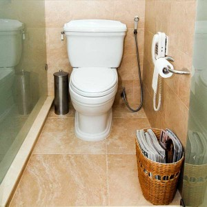 best-low-flow-toilet-with-rattan-basket