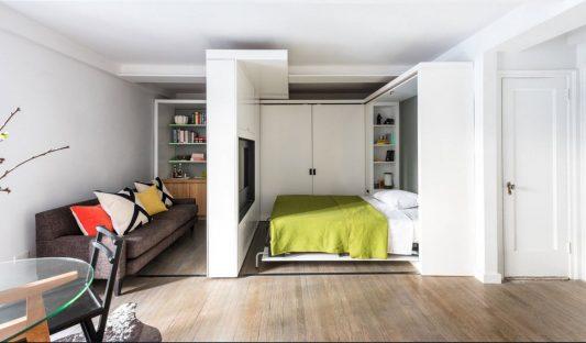 Дизайн однокомнатной квартиры 30 кв.м в современном стиле: фото 2020 - Ремонт квартир фото
