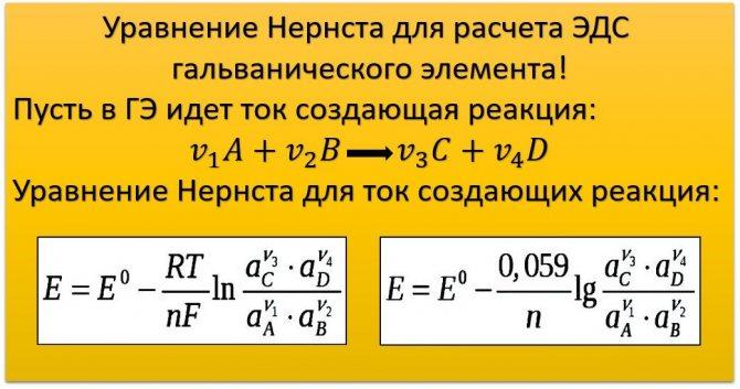 Nernsta egyenlet