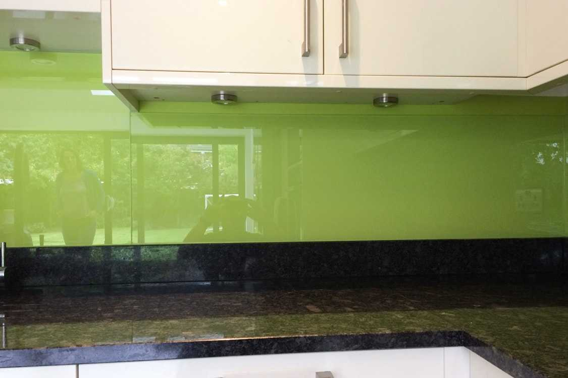 Dulux Luscious Lime Glass Splashback Kitchen Pro Glass 4