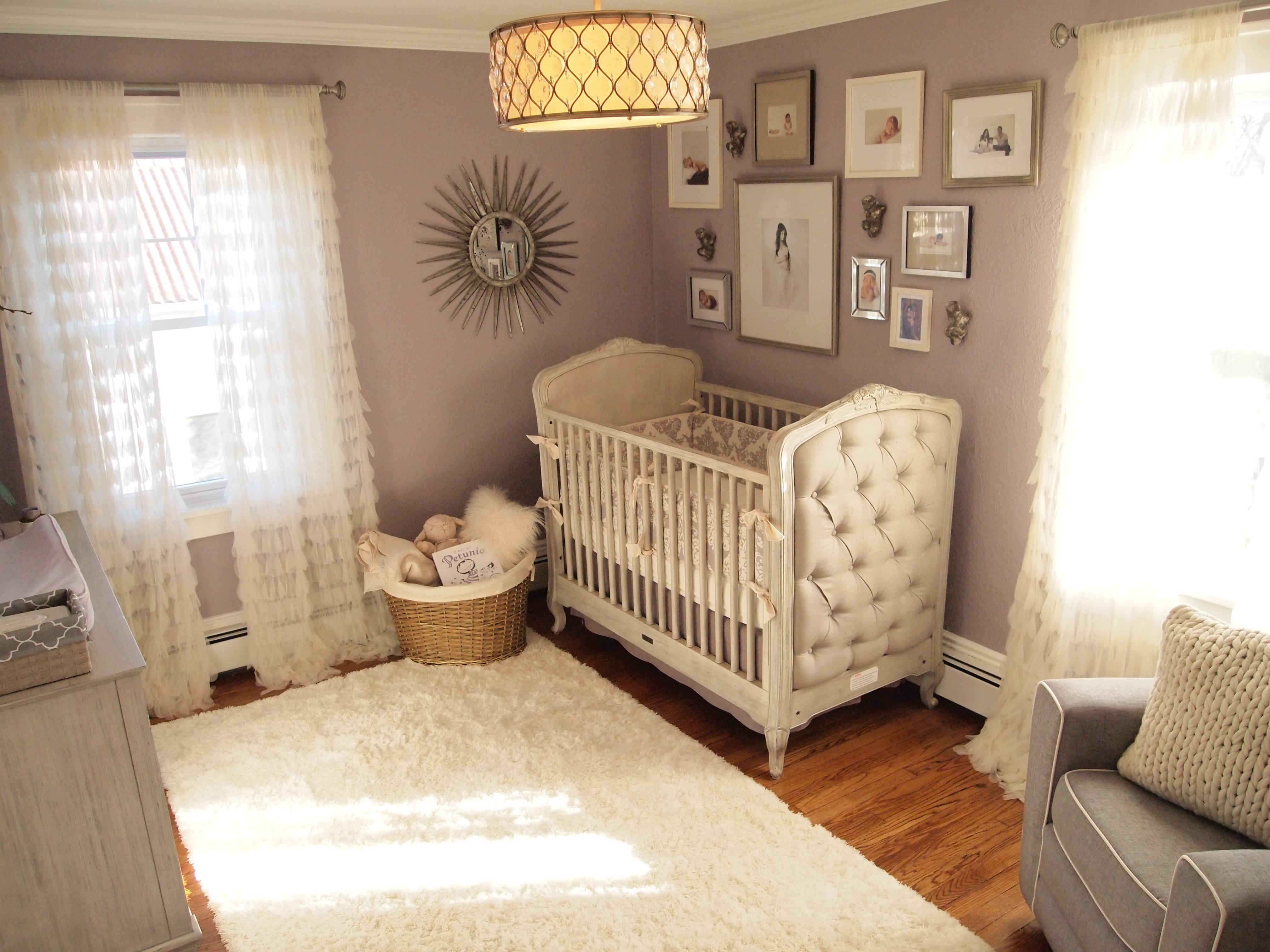 Mila S Purple Gray Modern Glamour Project Nursery