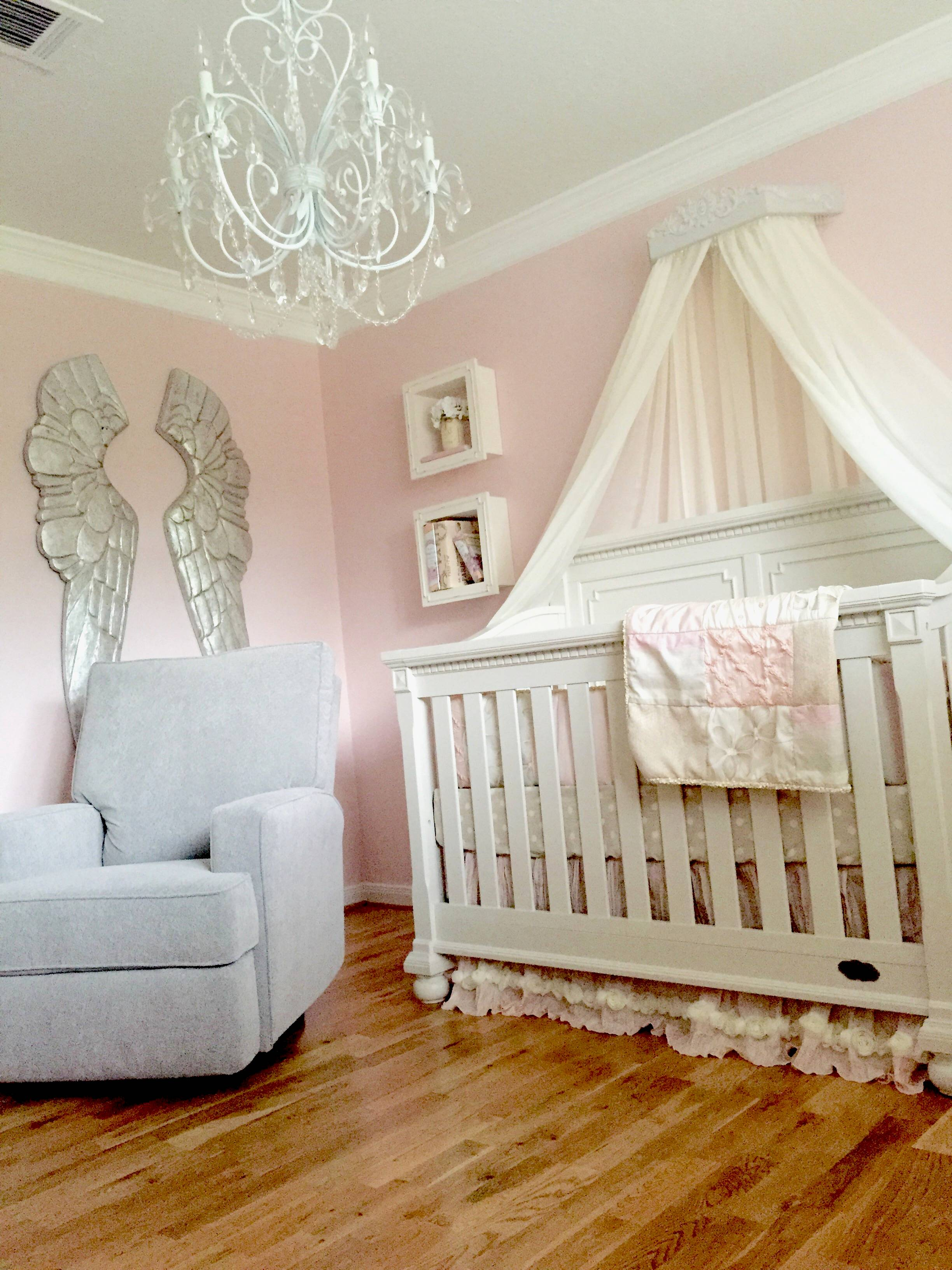 A Pink And Grey Nursery That Soothes And Calms A Princess