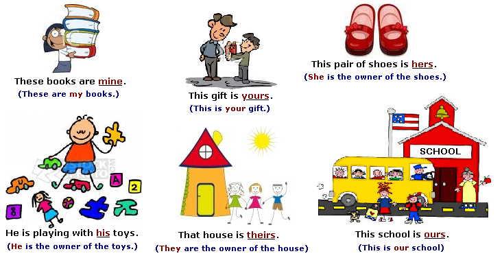 Possessive Grade 5 Adjectives Exercises