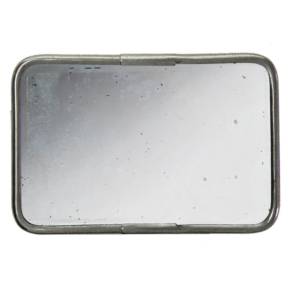 Small rectangular mirror with rounded edges