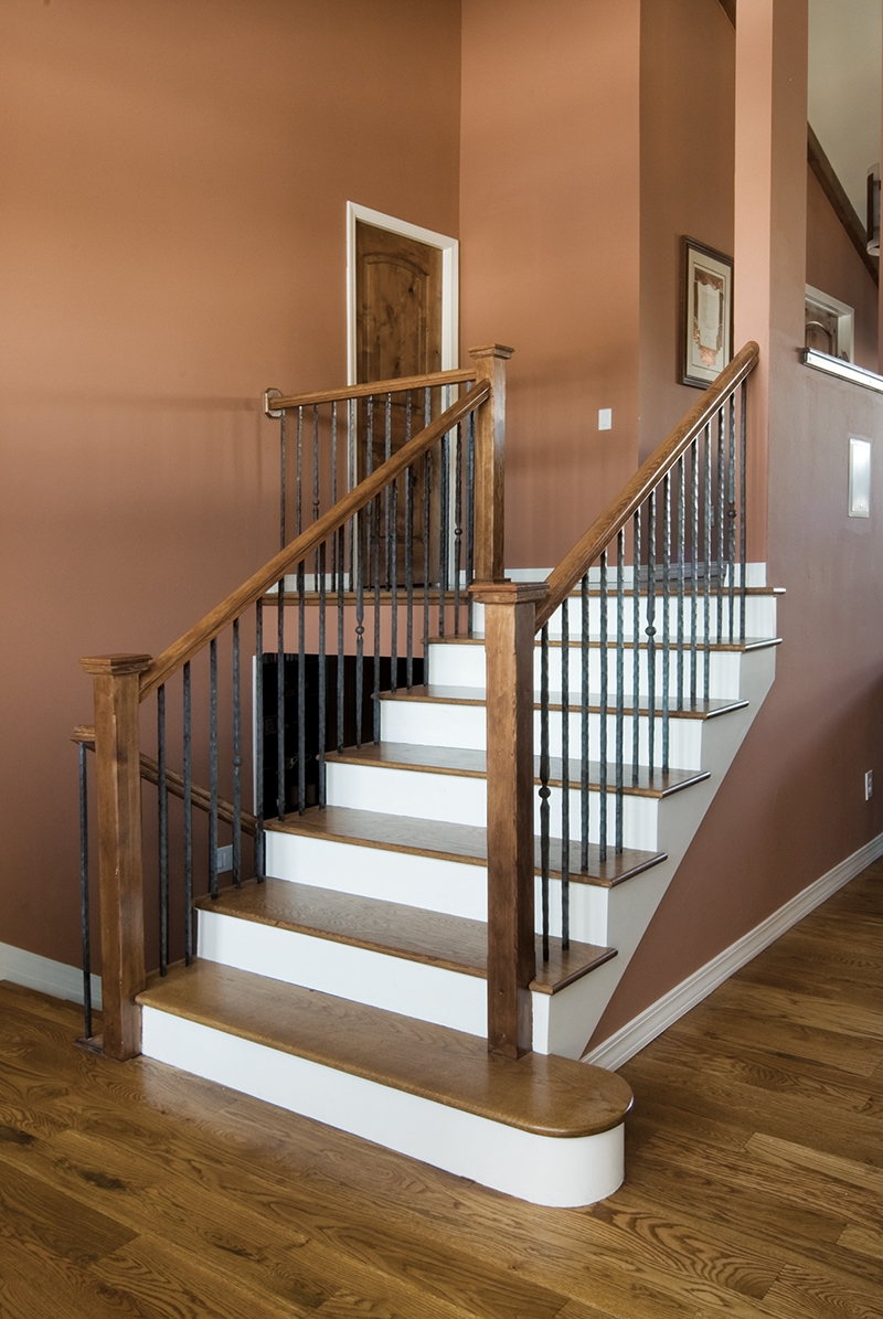 Beautiful Hazard Pro Remodeler | Wooden Handrails For Outside Steps | Staircase | Building | Wrought Iron | Concrete Steps | Deck