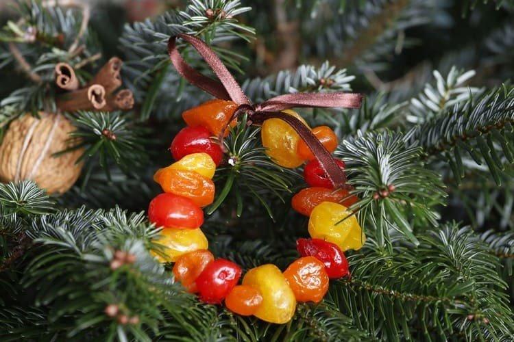 Съедобное украшение на елку