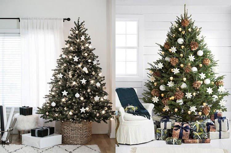 Украшение елки в скандинавском стиле