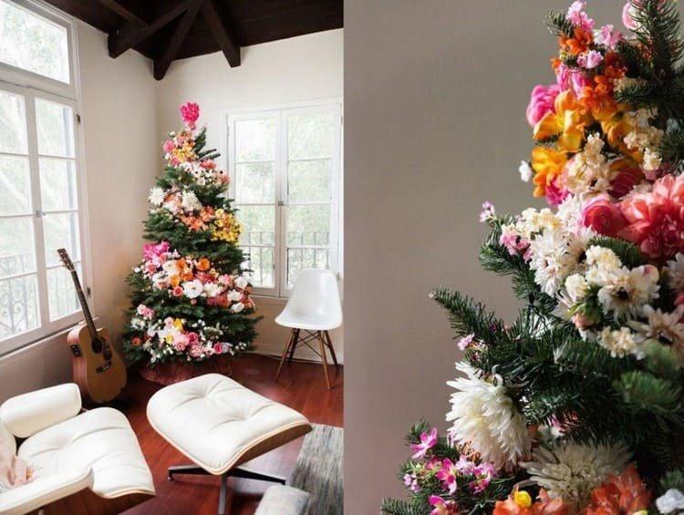 Флористический стиль украшения елки