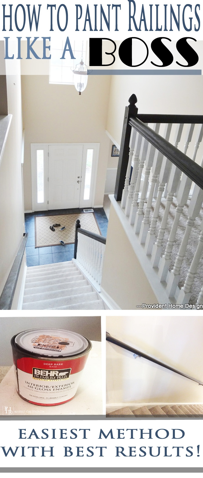 How To Paint Stair Railings | Painted Black Stair Railing | Carpet | High Gloss | Wall Both Side | Step | Colour Combination