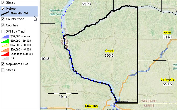 City Platteville Wi Map
