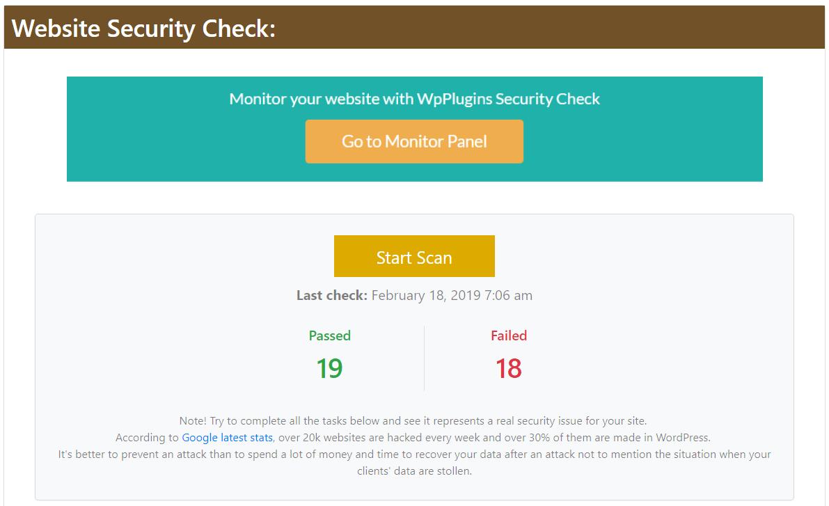 Website Security Wordpress Plugin