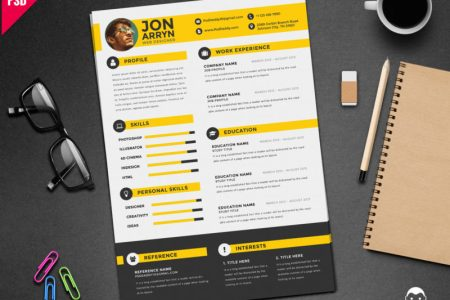 Creative Resume Template Free PSD     PsdDaddy com best resume format  best resume sample  best resume templates  creative cv   creative