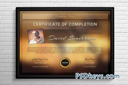 Modern Certificate Template 43841      Free Download Photoshop Vector     Modern Certificate Template 43841
