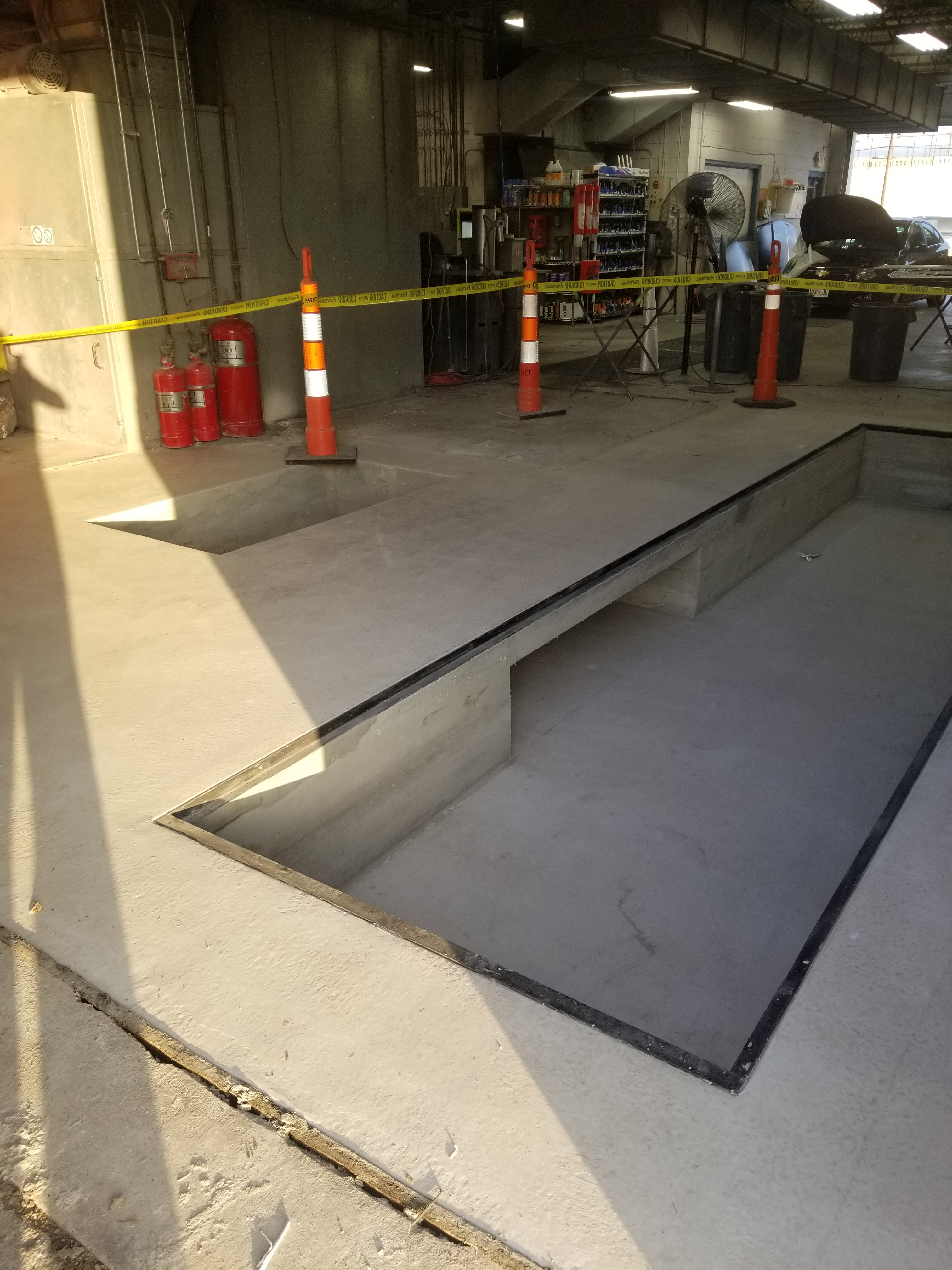 New Paint Booth Pit And Service Entrance Opening
