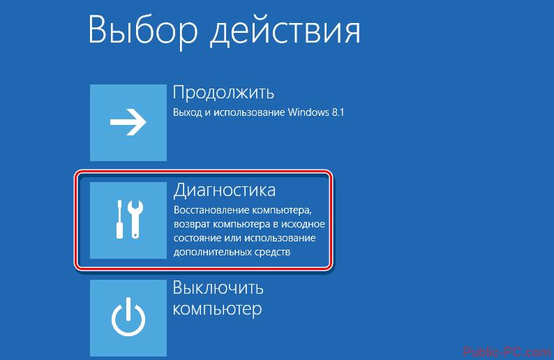 Windows-8 қалпына келтіру режимі