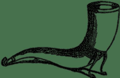 Black And Devil Art White Horn Clip