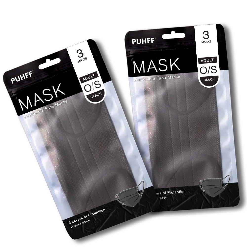 Black Face Mask 3 Pack
