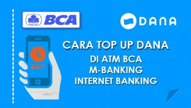 Cara top up saldo DANA di ATM BCA
