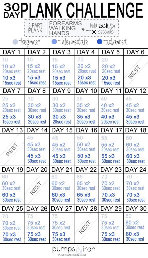 30 Challenge Squat Printable Day