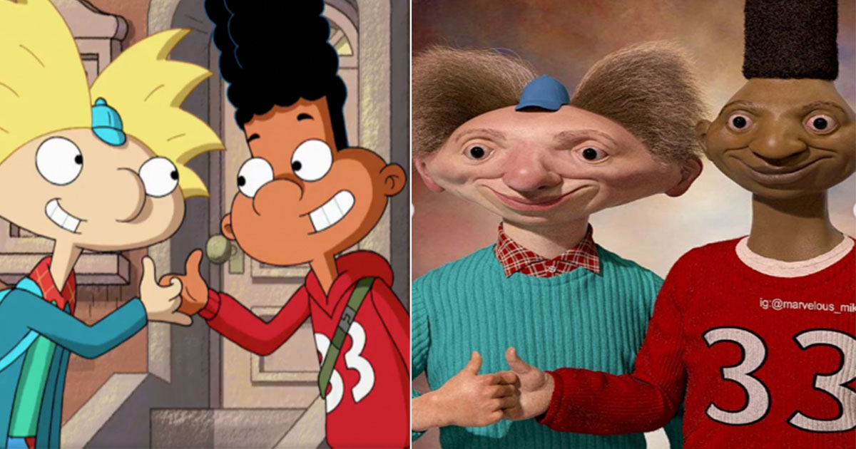 Hey Arnold Scary Realistic