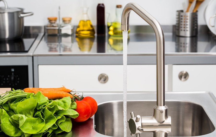 How to Clean Your Kitchen Faucet   PureWow How to Clean Your Kitchen Faucet Like a Champ