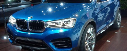 The new BMW X4 Concept exhibited at the LA Auto Show 2013
