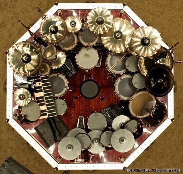 How much might Neil Peart s drum set cost    Quora Most of the gear is provided by the manufacturers to Neil free of charge or  at a steep discount  since he can provide a very valuable endorsement to  their