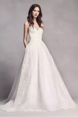 What style of wedding dress would be best for a short bride    Quora A line wedding dress