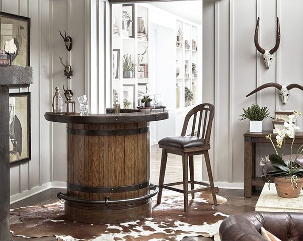 What is rustic style in interior    Quora You re likely to see a lot of metal accents and re purposed wood used in  rustic style furniture  maybe a cowhide rug or live edge tables