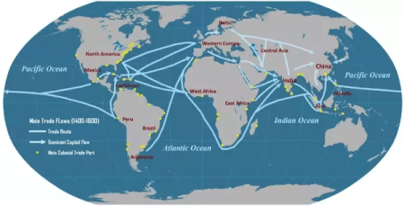 Map Of Christopher Columbus Journey » Online Interactive Map ...