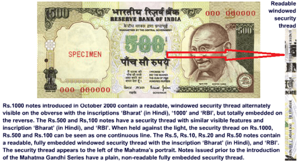 How to check for a counterfeit Indian Rupee Note - Quora