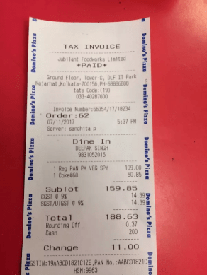 When GST is implemented  can I expect Dominos and Pizza Hut to     Yes  after GST  they are charging only GST