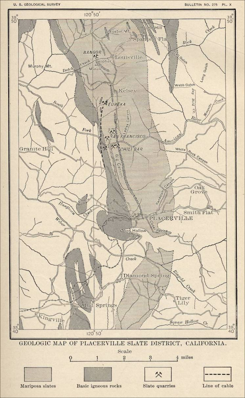 Placerville California Map.Map Placerville California Area