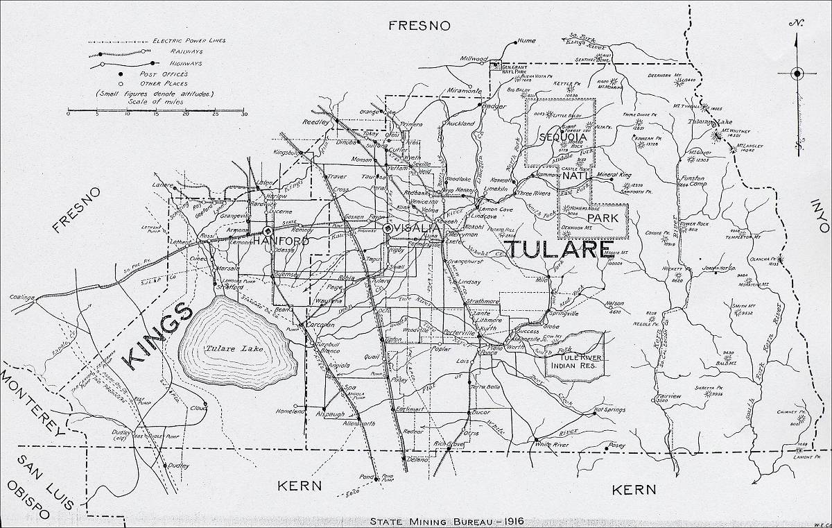 Tulare County Street Map